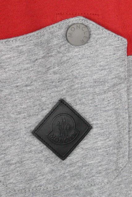 モンクレール [ MONCLER ] ワッペン ポケット Tシャツ 半袖 SIZE[S] メンズ トップス Tシャツ