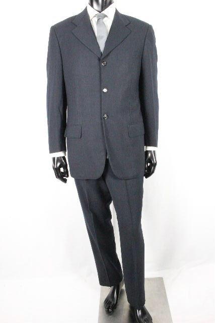 ルイヴィトン [ LOUISVUITTON ] LVロゴ 3B ウール スーツ ネイビー 紺色 SIZE[46] メンズ ヴィトン ビトン ジャケット パンツ