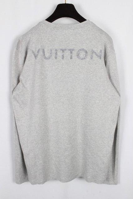 ルイヴィトン [ LOUISVUITTON ] ロゴ刺繍 ロンT グレー SIZE[L] メンズ ヴィトン ビトン ロング Tシャツ カットソー 長袖