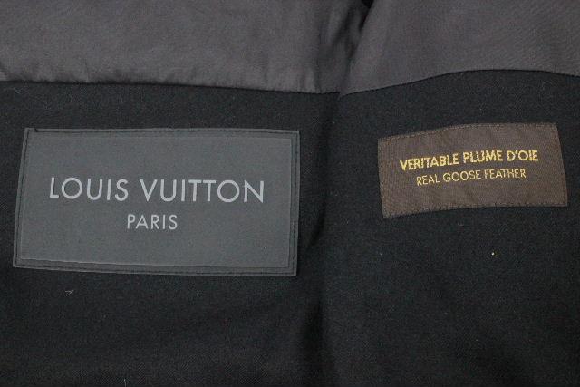 ルイヴィトン [ LOUISVUITTON ] LVロゴ 2WAY ダウンジャケット ブラック 黒 SIZE[50] メンズ ヴィトン ビトン ダウンベスト アウター ダウンコート