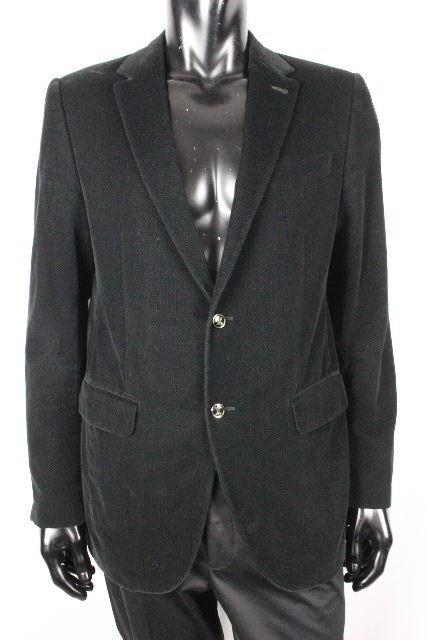 ルイヴィトン [ LOUISVUITTON ] LVボタン ベロア シングル ジャケット ブラック 黒 SIZE[50] メンズ ヴィトン ビトン アウター ブレザー
