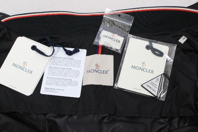 モンクレール [ MONCLER ] トリコロール ワッペン ナイロンブルゾン MIROIR SIZE[2] メンズ アウター ジャケット ジャンパー ジャンバー ブラック 黒