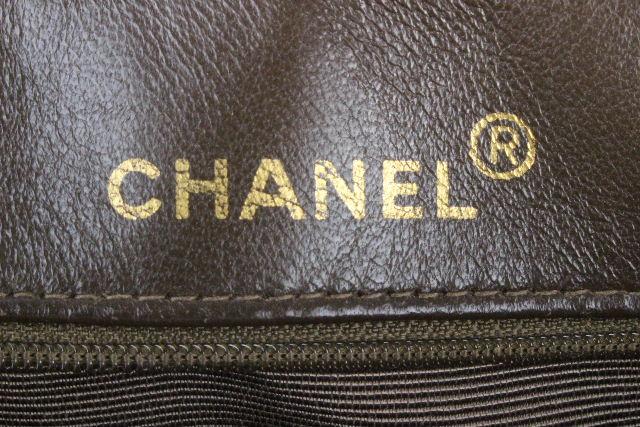 シャネル [ CHANEL ] ヴィンテージ ダブルチェーン デカココ マトラッセ ブラウン ビンテージ Wチェーン キルティング バッグ