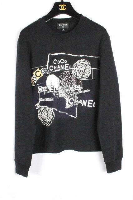 シャネル [ CHANEL ] 20ss コレクション ロンT ブラック黒 P63300 SIZE[XS] レディース トップス ロング Tシャツ カットソー 長袖