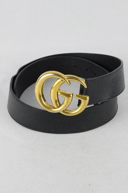 グッチ [ GUCCI ] GG マーモント レザー ベルト ブラック 黒 406831 SIZE[85 34] メンズ 男性用 紳士用 マーモット