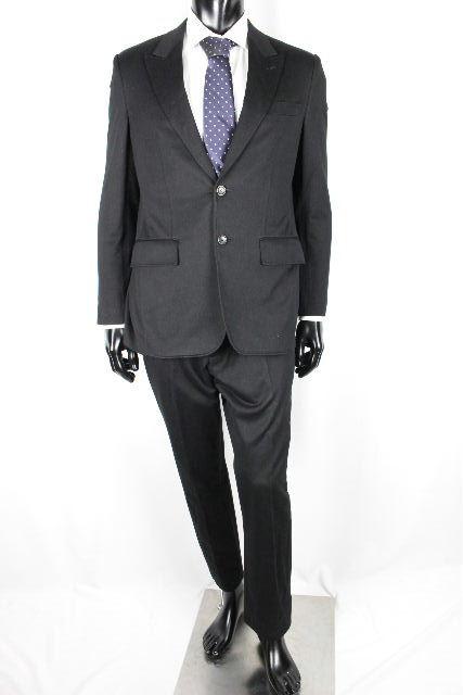 ルイヴィトン [ LOUISVUITTON ] 16SS LVロゴ モノグラム セットアップ スーツ ブラック 黒 SIZE[48] メンズ ヴィトン ビトン ジャケット パンツ
