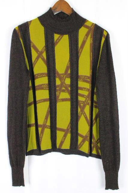 エルメス [ HERMES ] カシミヤ100% リボン柄 ニット セーター 長袖 SIZE[XS] レディース トップス  E5C-8 HR-1860