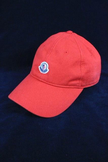 モンクレール [ MONCLER ] 19ss ワッペン ベースボール キャップ レッド 赤 SIZE[L] メンズ レディース 帽子 帽