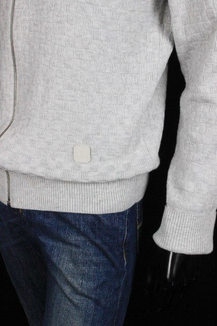 ルイヴィトン [ LOUISVUITTON ] ダミエ ジップアップ ニット セーター グレー SIZE[L] メンズ ヴィトン ビトン ブルゾン ジャケット