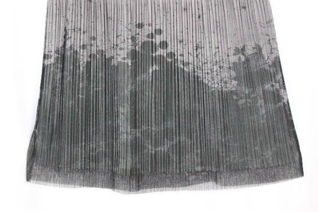 イッセイミヤケ / プリーツプリーズ プリーツ ロングスカート グレー 柄物 SIZE[4] レディース ボトムス スカート