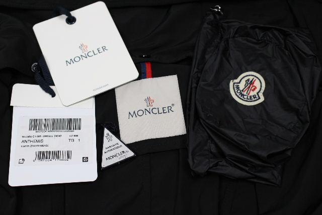 モンクレール [ MONCLER ] ナイロン スプリングコート アンテミス ANTHEMIS 黒 SIZE[1] レディース アウター パーカー コート ジャケット ブラック