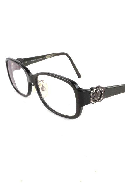 シャネル [ CHANEL ] カメリア ビジュー 眼鏡フレーム ブラック系 [ BC4644287 ] レディース めがね メガネ サングラス