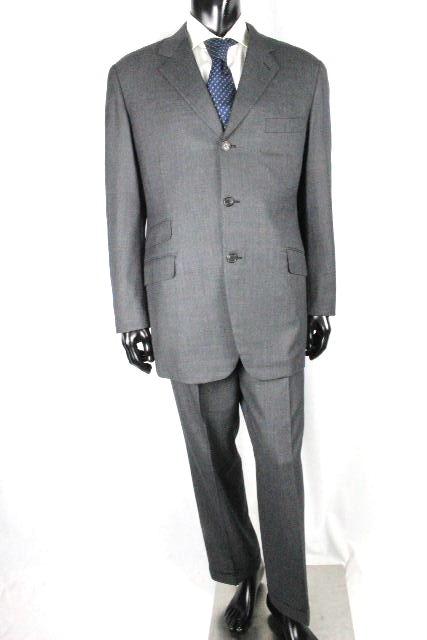 エルメス [ HERMES ] SUPER 13S 3B セットアップ スーツ グレー系 SIZE[52] メンズ 3B シングルジャケット パンツ