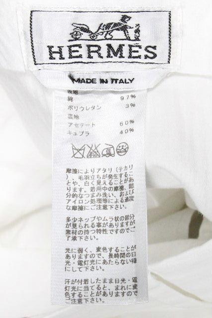 エルメス [ HERMES ] ストレッチ コットン ホワイトパンツ SIZE[44] メンズ ボトムス カジュアルパンツ 白パンツ