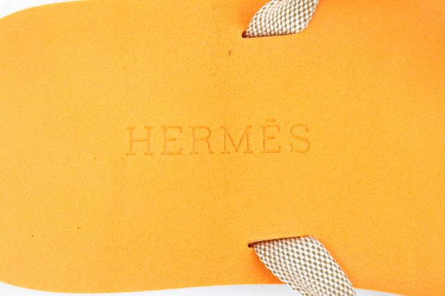 エルメス [ HERMES ] ロゴ ビーチサンダル オレンジ レディース シューズ サンダル