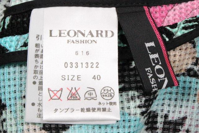 レオナール [ LEONARD ] フラワー サマージャケット ブラック 黒 SIZE[40] レディース ジャケット カーディガン 花柄