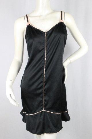 クリスチャンディオール [ Dior ] ロゴビジュー リボン キャミソール ワンピース ブラック 黒 レディース ディオール ビスチェ ワンピ