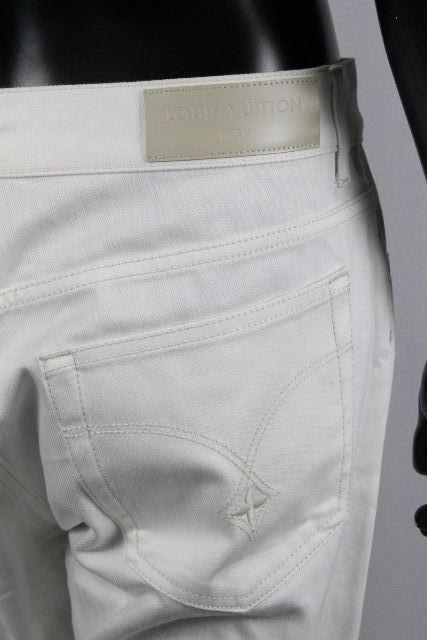 ルイヴィトン [ LOUISVUITTON ] LVロゴ ホワイト デニムパンツ SIZE[48] メンズ ヴィトン ビトン ボトムス ジーンズ ジーパン Gパン