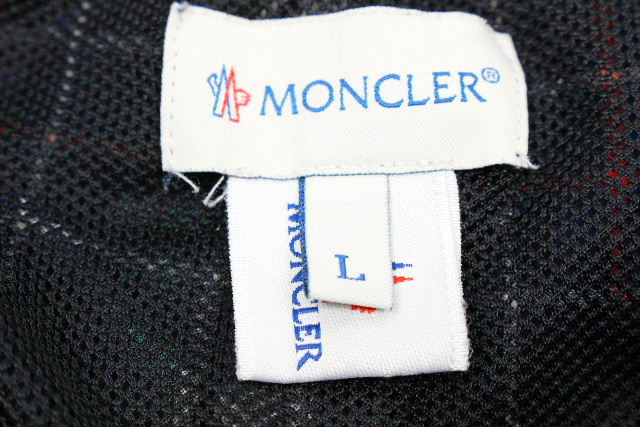 モンクレール [ MONCLER ] ワッペン チェック柄 海パン SIZE[L] メンズ 短パン ショートパンツ スイムウェア スイムパンツ 水着