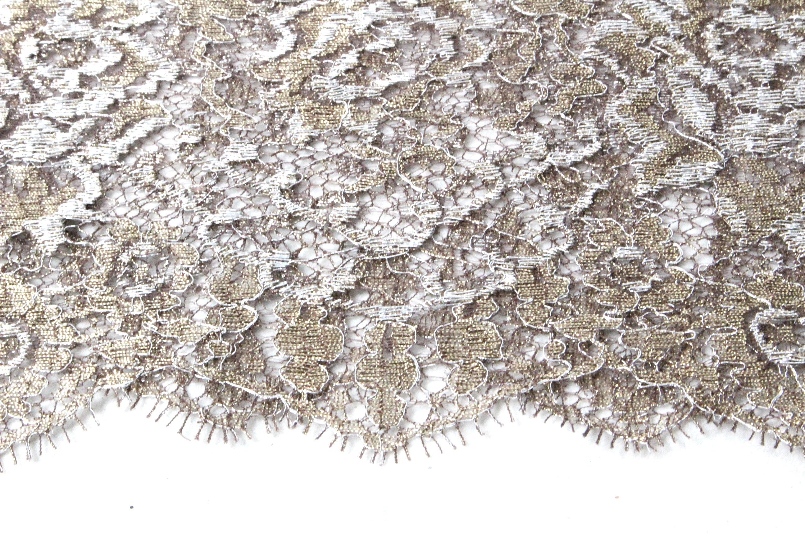 レオナール [ LEONARD ] 花柄刺繍 総レース ノースリーブ ワンピース ベージュ系 SIZE[46] レディース フラワー ドレス ワンピ ?