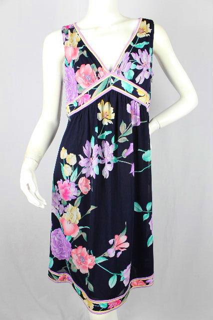 レオナール [ LEONARD ] フラワー ドレス SIZE[L] レディース ワンピース 花柄