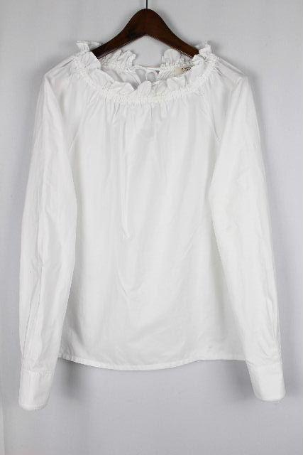 アトランティックアスコリ [ Atlantique Ascoli ] フリル ブラウス ホワイト 白 長袖 SIZE[0] レディース トップス シャツ