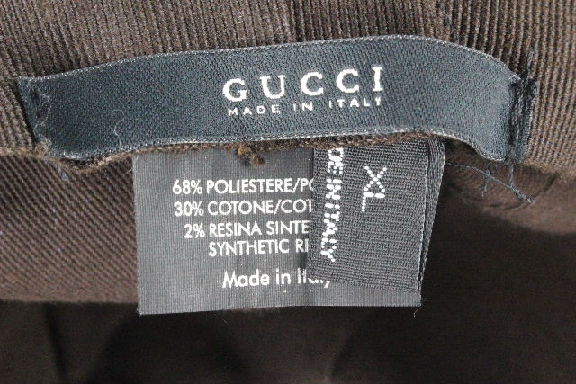 グッチ [ GUCCI ] シェリー×GG柄 ハット 帽子 ベージュ SIZE[XL] メンズ レディース 帽