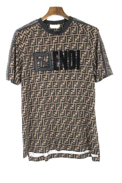 フェンディ [ FENDI ] ズッカ柄 オーバーサイズ カットソー 半袖 SIZE[S] メンズ トップス Tシャツ プルオーバー