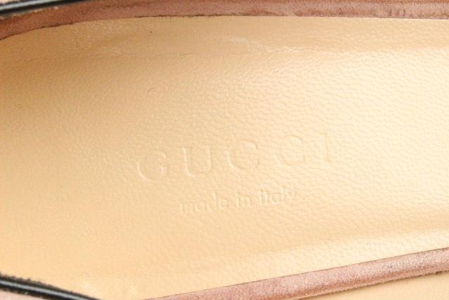 グッチ [ GUCCI ] GGマーモント スエード チャンキー パンプス ピンク SIZE[37.5] レディース ローヒール