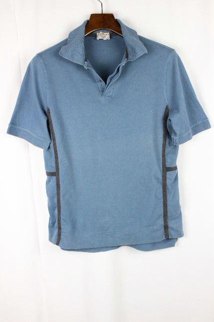 エルメス [ HERMES ] セリエ Hデザイン ポロシャツ ブルー系 半袖 SIZE[M] メンズ トップス カットソー Tシャツ