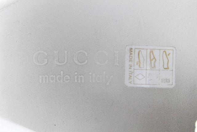 グッチ [ GUCCI ] ロゴ×シェリーライン レザー スニーカー 523469 SIZE[9] メンズ ローカット シューズ