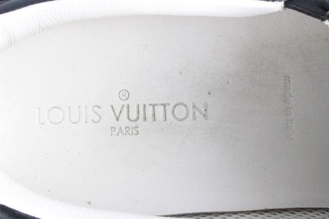 ルイヴィトン [ LOUISVUITTON ] LVロゴ フラッグ スリップオン スニーカー ブラック 黒 SIZE[9] メンズ ヴィトン ビトン