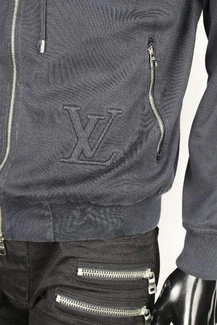 ルイヴィトン [ LOUISVUITTON ] LVロゴ ダミエグラフィット ジップアップ パーカー ブラック 黒 メンズ ヴィトン ビトン ダミエ パーカ