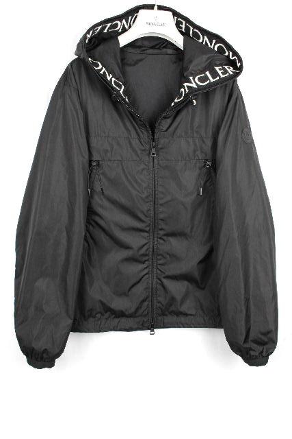 モンクレール [ MONCLER ] ロゴ フード ナイロンブルゾン マセロー Massereau 黒 SIZE[1] メンズ ジャンパー ジャンバー モンクラー