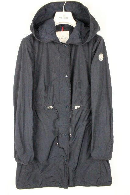 モンクレール [ MONCLER ] ナイロン スプリングコート アンテミス ANTHEMIS 紺色 SIZE[1] レディース アウター トレンチ コート ジャケット