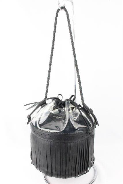 ジェイアンドエムデヴィッドソン [ J&M DAVIDSON ] カーニバル フリンジ ショルダーバッグ ブラック 黒 レディース クリア バッグ