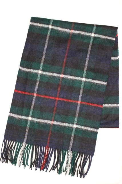 ジョンストンズ [ johnstons ] スコットランド製 カシミヤ チェック柄 マフラー [35×210] ショール ストール