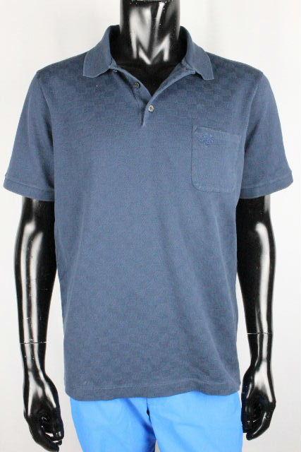 ルイヴィトン [ LOUISVUITTON ] 17SS ダミエ ポケット ポロシャツ ネイビー 紺色 半袖 SIZE[XL] メンズ ヴィトン ビトン Tシャツ