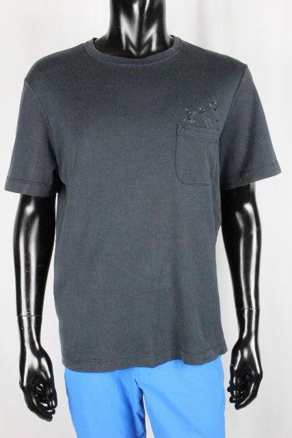 ルイヴィトン [ LOUISVUITTON ] モノグラム ポケット Tシャツ ブラック 黒系 半袖 SIZE[L] メンズ ヴィトン ビトン カットソー