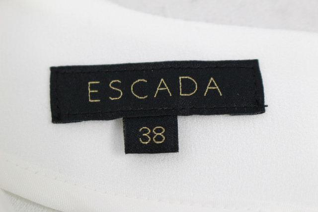 エスカーダ [ ESCADA ] ビッグフリル ワンピース ホワイト 白 RN61891 SIZE[38] レディース ドレス ワンピ