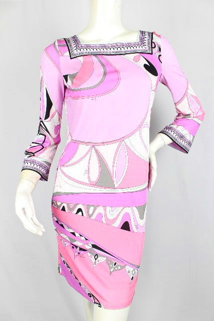 エミリオプッチ [ EMILIO PUCCI ] 幾何学模様 ドレス ワンピース SIZE[38] レディース プッチ ワンピ
