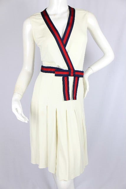 グッチ [ GUCCI ] シェリーライン フレアー ワンピース SIZE[XS] レディース ストレッチ ワンピ ドレス