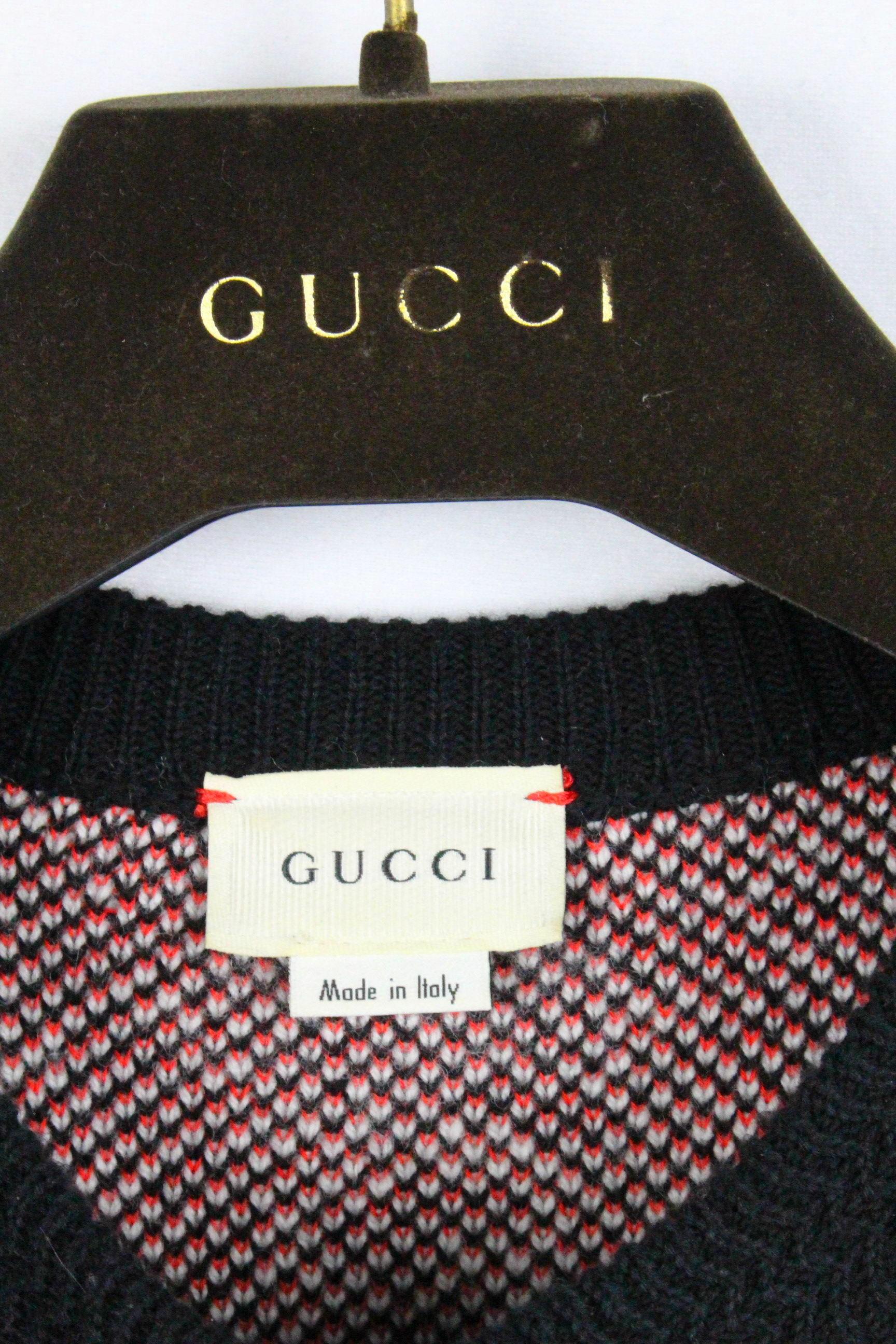 グッチ [ GUCCI ] GG柄 ニット セーター ブラック 黒 長袖 SIZE[XS~S相当(目安)] メンズ トップス プルオーバー