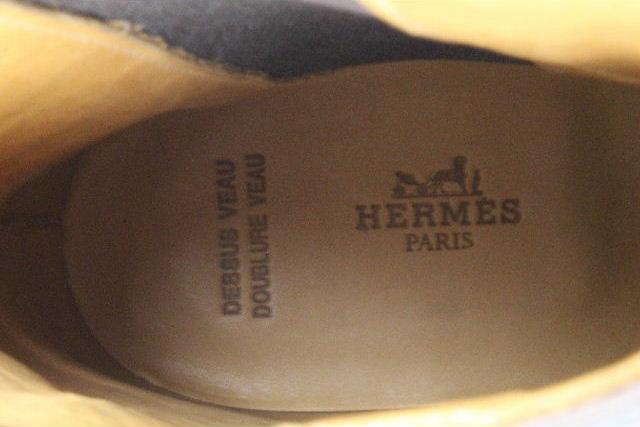 エルメス [ HERMES ] サイドゴアブーツ ブラウン 茶色 SIZE[42.5] メンズ シューズ ブーツ
