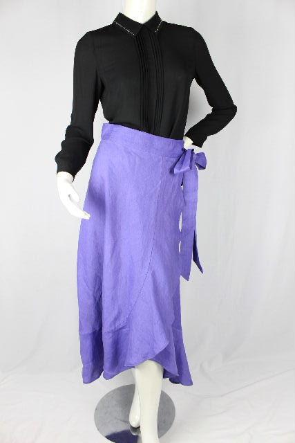 マイラン [ MYLAN ] リネン リボン ラップスカート パープル SIZE[FREE] レディース ボトムス フレアースカート ロングスカート
