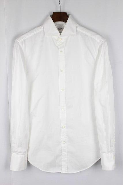 ブルネロクチネリ [ BRUNELLO CUCINELLI ] カッターシャツ ホワイト 白 長袖 SIZE[S] メンズ クチネリ ワイシャツ