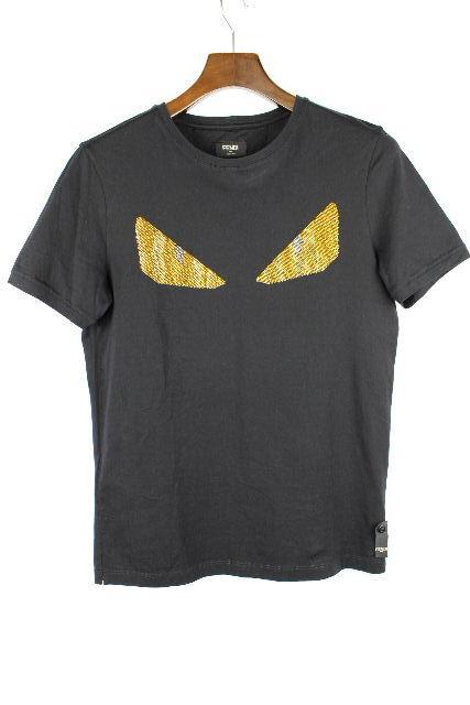 フェンディ [ FENDI ] クリスタルアイ モンスター バグズ Tシャツ ブラック 黒 SIZE[44] メンズ トップス カットソー 半袖 ?