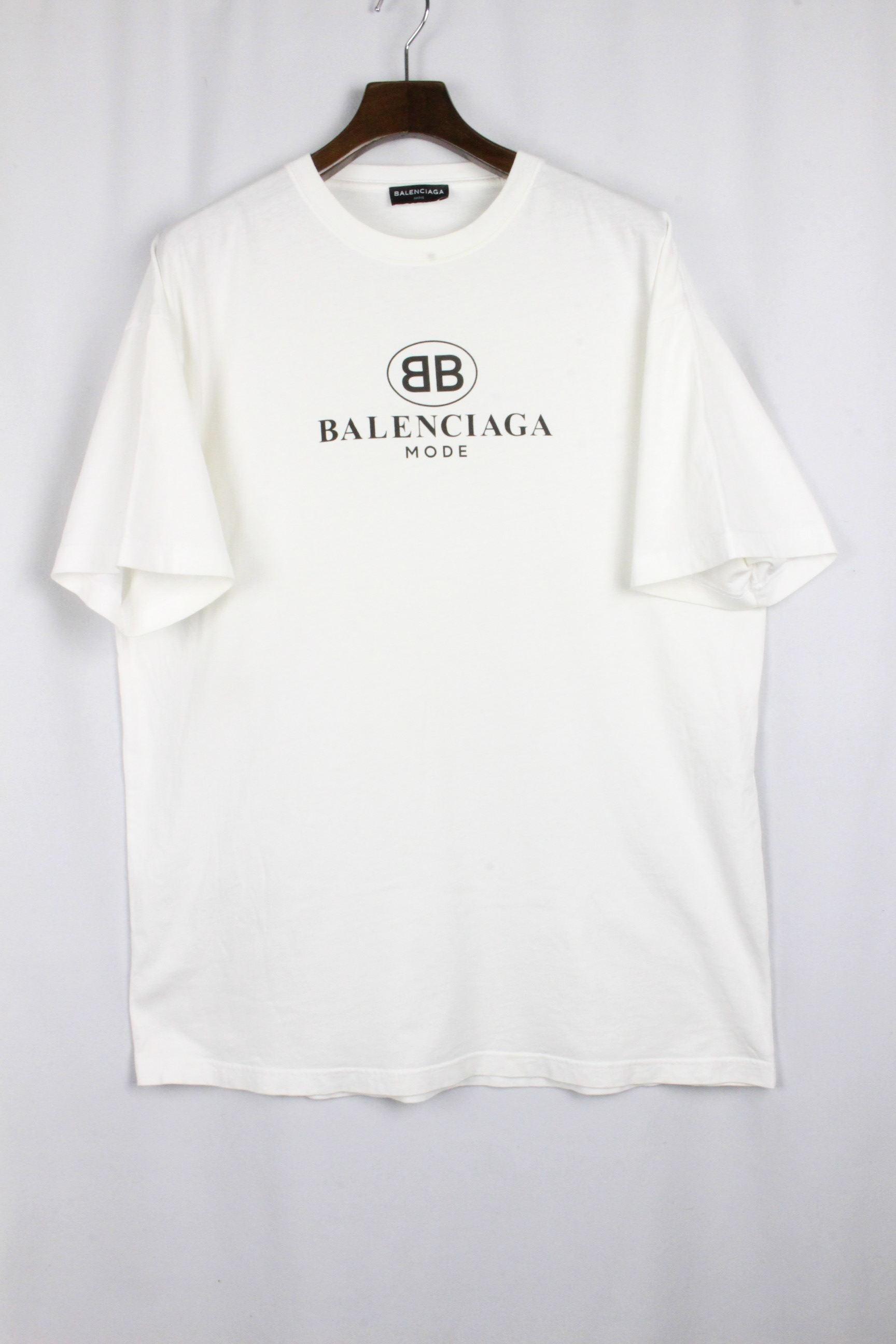 バレンシアガ [ BALENCIAGA ] オーバーサイズ ロゴ Tシャツ ホワイト 白 半袖 SIZE[S] メンズ トップス カットソー