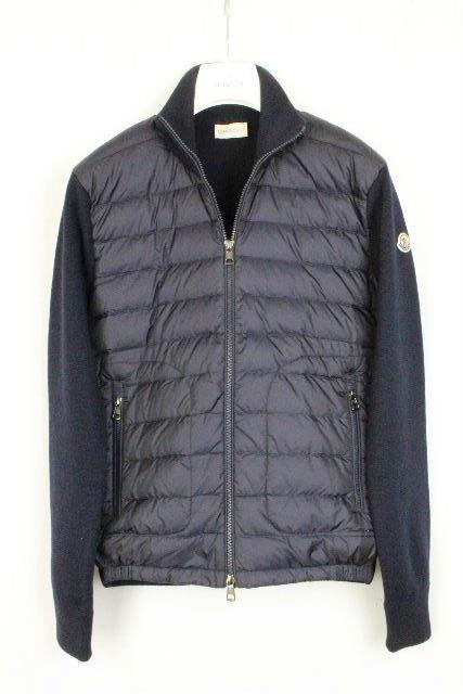 モンクレール [ MONCLER ] ダウンニット パーカー ネイビー 紺色 SIZE[S] メンズ カーディガン ダウンジャケット セーター