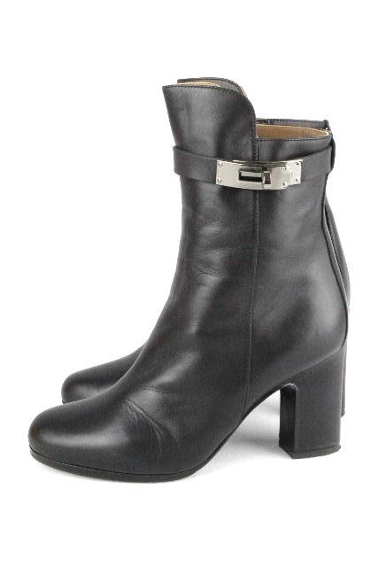 エルメス [ HERMES ] ケリー ショートブーツ ブラック 黒 SIZE[35/22.5cm] レディース ブーツ シューズ